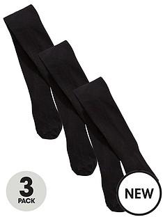 v-by-very-girls-3-pack-flat-knit-tights-black