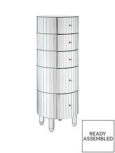 phoebe-round-5-drawer-mirrored-chest