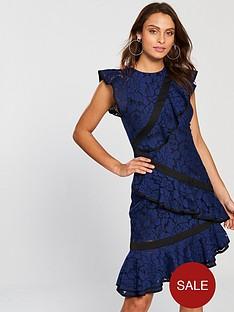 keepsake-encore-ruffle-detail-lace-dress