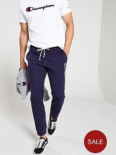 champion-colour-block-rib-cuffed-joggers-navy