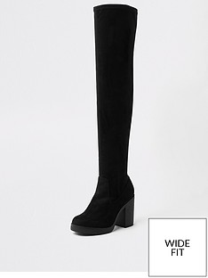 river-island-river-island-wide-fit-over-the-knee-chunky-sole-boots-black