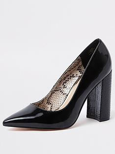 river-island-river-island-block-heel-court-shoe-black