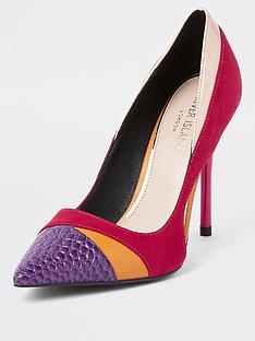 river-island-contrast-colour-court-shoe--nbsppink