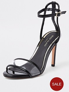 de2775ede2f River Island River Island Perspex Barely There Heel Sandal - Black