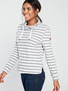 regatta-regatta-celestia-stripe-funnel-neck-fleece-top
