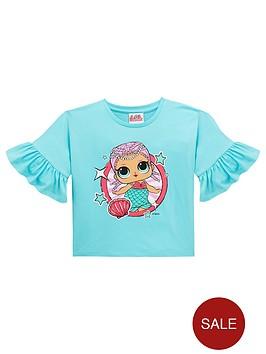 286892a845e6 L.O.L Surprise! LOL Girls Batwing Short Sleeve T-Shirt - Aqua ...