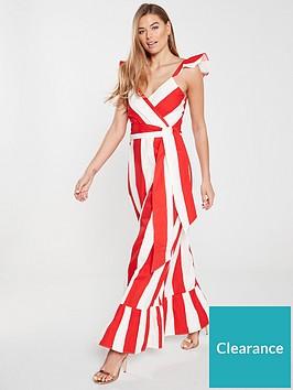 v-by-very-cross-front-maxi-dress-stripe