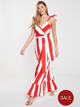 v-by-very-cross-front-maxi-dress-stripe