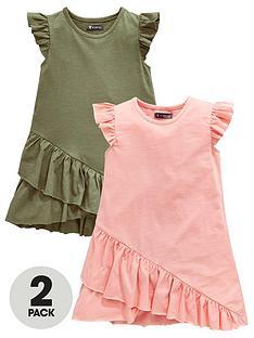 mini-v-by-very-girls-2-pack-frill-hem-jersey-dresses-multi