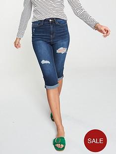 v-by-very-sydney-skinny-distressed-denim-shorts-ndash-dark-wash