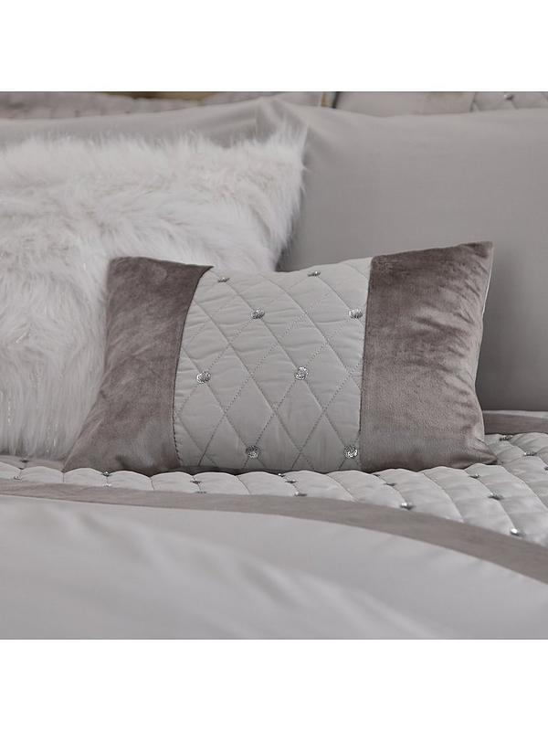 Catherine Lansfield Sequin Cluster Quilt//Duvet Cover Bedroom Collection Silver