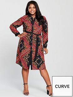 159a9cc770ecd1 V by Very Curve Chain Print Shirt Dress - Printed