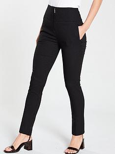 v-by-very-high-waisted-spot-ponte-trousers-black