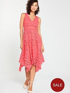v-by-very-lace-hanky-hem-dress-coral