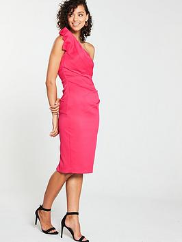 v-by-very-one-shoulder-origami-satin-pencil-pink