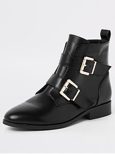 river-island-wide-fit-buckle-biker-boots-black