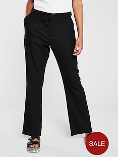 v-by-very-linen-mix-drawcord-trousers-black