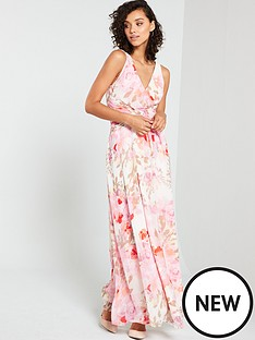 f19fe47457f3 V by Very Cross Front Waist Detail Printed Maxi - Print