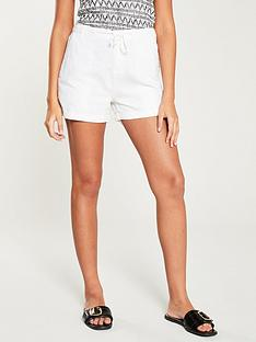 v-by-very-linen-mix-shorts-white