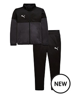 puma-junior-football-tracksuit-blackgrey