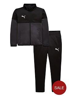 puma-junior-football-tracksuit-blackgrey