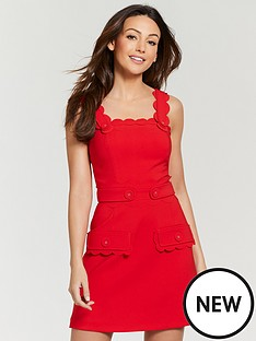 michelle-keegan-scallop-button-front-pinafore-dress-red