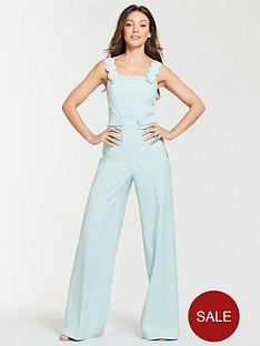 michelle-keegan-scallop-button-front-jumpsuit-blue