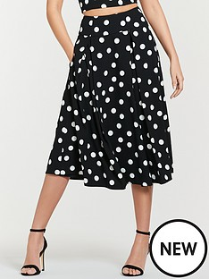 michelle-keegan-co-ord-printed-prom-skirt-spot-print