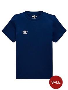 umbro-junior-club-short-sleeved-training-t-shirt-navy