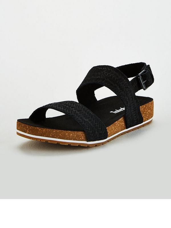 Malibu Waves Flat Sandals Black