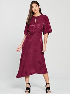 miss-selfridge-jacquard-midi-dress-berrynbsp