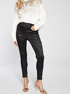 miss-selfridge-shiny-corset-jean