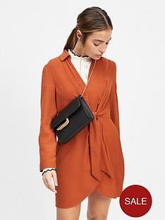 miss-selfridge-twist-tunic-dress-rust
