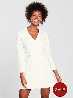 miss-selfridge-miss-selfridge-white-structured-tux-dress