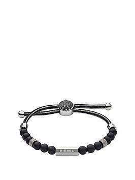 diesel-diesel-grey-cord-black-bead-and-stainless-steel-slider-mens-wristwear
