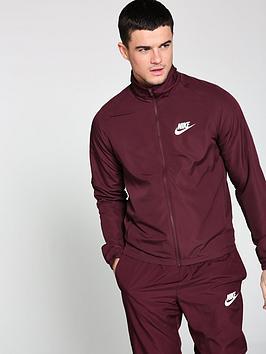 635432824dce Nike Sportswear Basic Woven Tracksuit - Burgundy