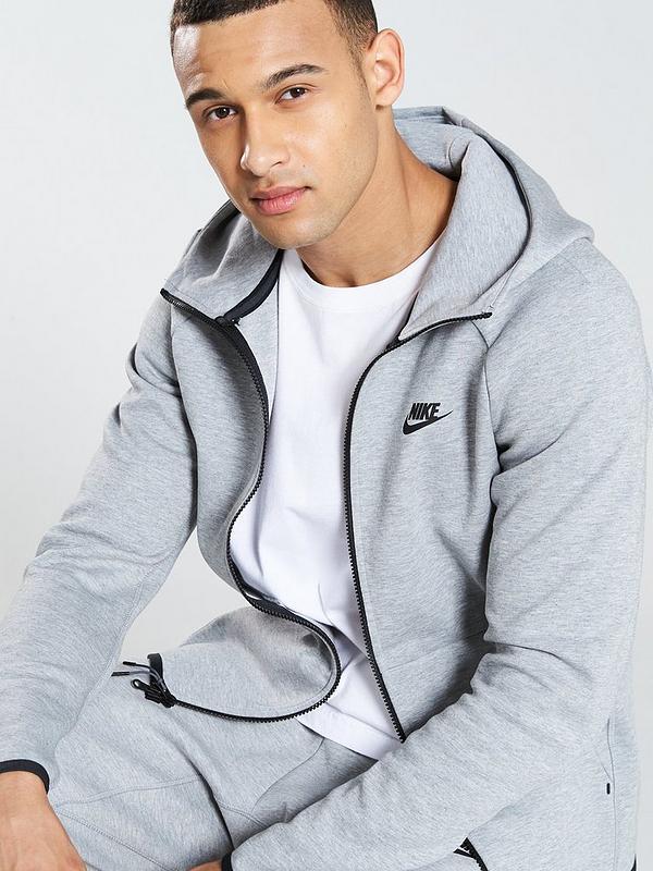 Nike Sportswear Tech Fleece Full Zip Hoodie Dark Grey Littlewoodsireland Ie