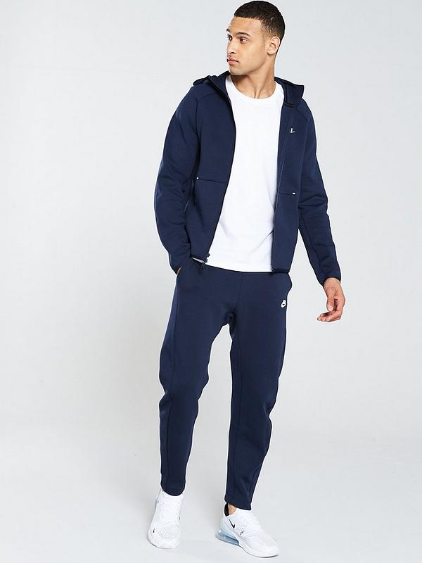 Nike Sportswear Tech Fleece Full Zip Hoodie Obsidian Littlewoodsireland Ie