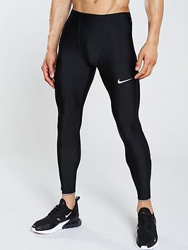 a755fc66aeb7d Nike Run Mobility Running Tights - Black | littlewoodsireland.ie