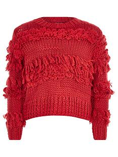 river-island-girls-red-fringe-trim-knit-jumper