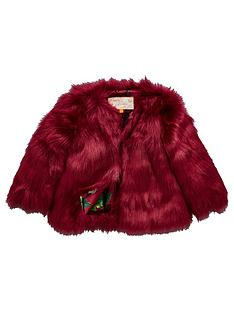 5defa83812c02 Baker by Ted Baker Girls Faux Fur Coat