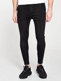 sik-silk-skinny-denim-jeans-black