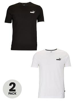 puma-2-pack-essentials-small-logo-t-shirt-black-amp-white