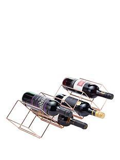 kitchencraft-barcraft-rose-gold-finish-stackable-wine-rack