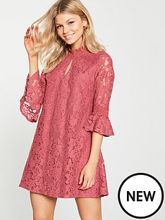 little-mistress-petite-lace-shift-dress
