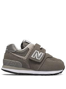 9505fdf568cf New Balance New Balance 574 Infant Hook and Loop Trainer