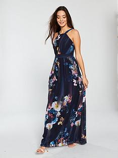 38d3043d41 Little Mistress Floral Print Chiffon Maxi Dress - Multi