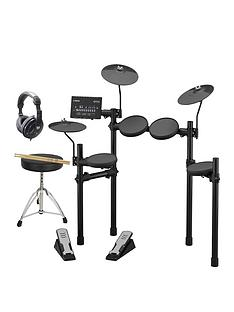 yamaha-yamaha-dtx402-electronic-drum-kit-with-sticks-drum-throne-headphones-and-online-lessons