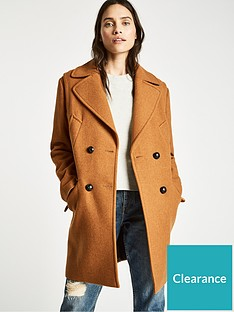 d8d7463071d32 Jack Wills Henley Wool Blend Coat - Ginger