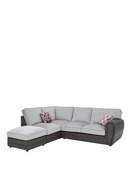 moreno-faux-snakeskin-and-fabric-left-hand-corner-chaise-standard-back-sofa